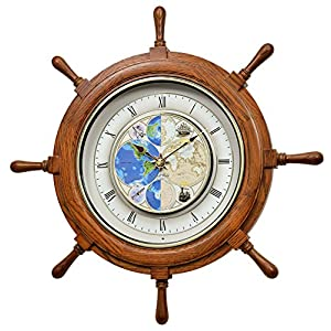 51803kQIgLL._SS300_ Best Ship Wheel Clocks