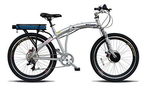 ProdecoTech Genesis v5F 36V300W 8 Speed Electric Bicycle 10Ah Samsung Li ion, Brushed Aluminum, 18/One Size