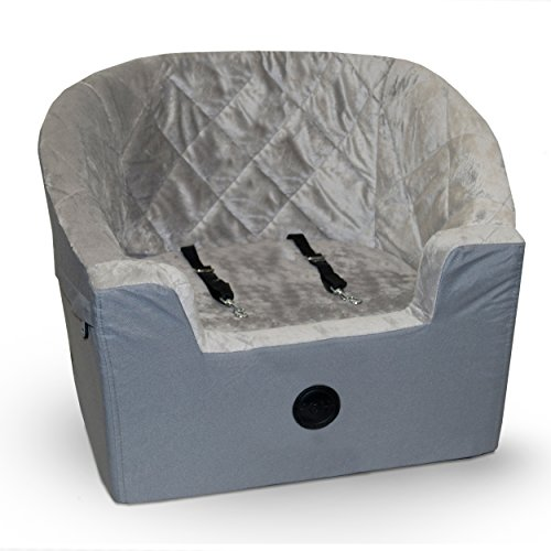 K&H Pet Products Bucket Booster Pet Seat Large Gray 14.5