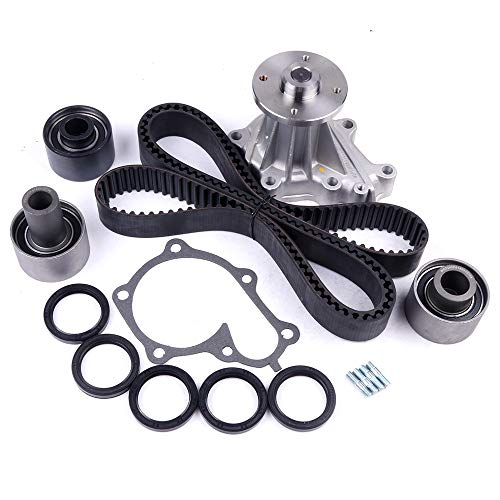 cciyu Timing Belt Water Pump with Gasket Tensioner Bearing Fits 1990-1996 Nissan 300ZX Non Turbo 3.0L VG30DE