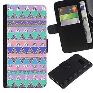 All Phone Most Case / Oferta Especial Cáscara Funda de cuero Monedero Cubierta de proteccion Caso / Wallet Case for Sony Xperia Z3 Compact // polígono azul rosa americana nativa