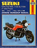 HAYNES 1979-1988 SUZUKI GSX/GS1000, 1100, 1150 FOURS OWNERS SERVICE MANUAL (737)