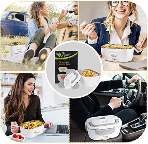 VOVOIR Chauffage électrique de Voiture Lunch Box 12V / 220v 2 in1 Accueil Chauffage électrique Chauffe-Plats Chauffe-Repas pour la Conservation de la Chaleur, Bureau, école, Voyage