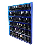 Beauticom Ocean Blue Colors Professional Acrylic Nail Polish Wall Rack Display (Holds up to 96 Bottles) (OCEAN BLUE)