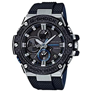51804gIIjxL. SS300  - Men's Casio G-Shock G-Steel Black Carbon and Resin Bluetooth Watch GSTB100XA-1A