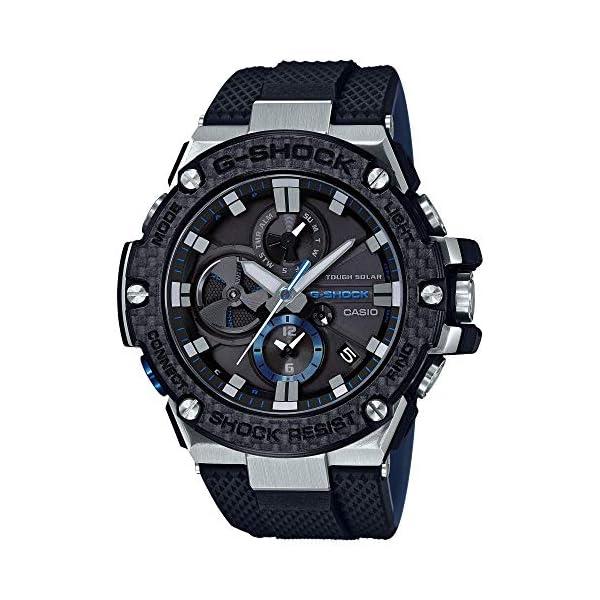 51804gIIjxL. SS600  - Men's Casio G-Shock G-Steel Black Carbon and Resin Bluetooth Watch GSTB100XA-1A