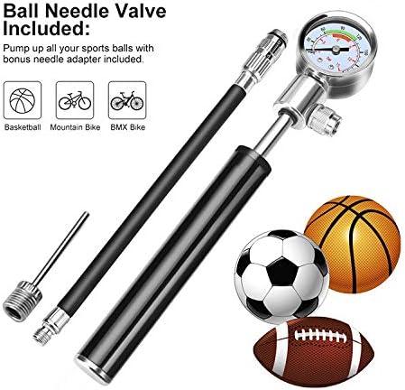 Football Hand Air Pump Bike Bicycle Soccer Basketball Sports Ball Inflator