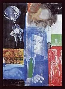 Retroactive I, Framed Art Print by Robert Rauschenberg