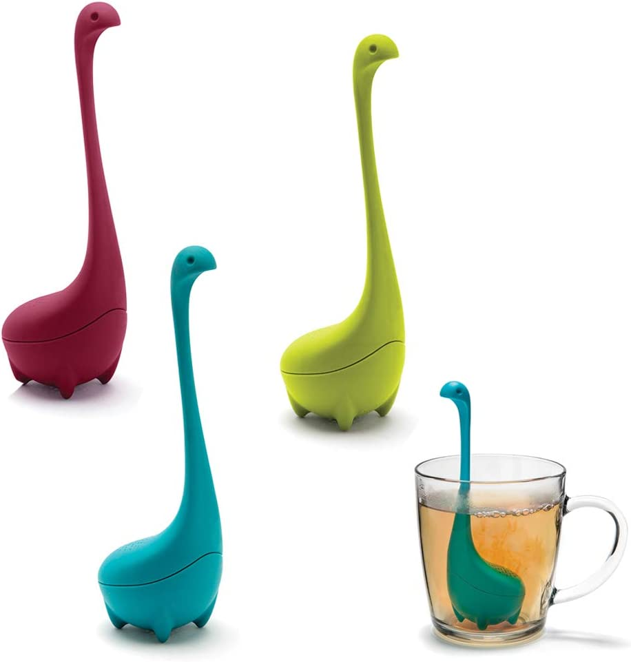 BESYZY Silicone Handle Strainer Filter Loose Tea Steeper Set of 3 Tea Infuser for All Types of Loose Leaf Tea, Tea Cups, Mugs, and Teapots