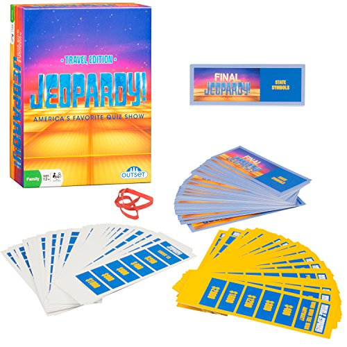 Jeopardy the Card Game - Travel Quiz Game With 108 Answers and Questions - Ages 12+