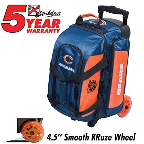 KR Strikeforce Bowling Bags Chicago Bears 2 Ball Roller Bowling Bag, Multi