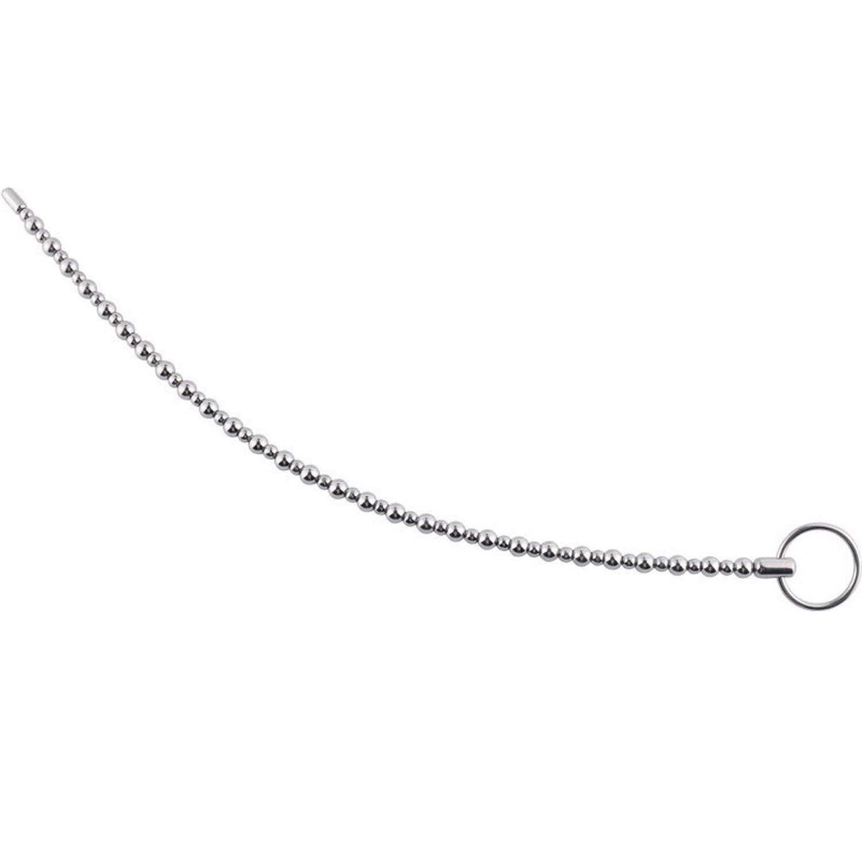 Amazon.com: 380 mm de Largo pene tapón uretral Dilatador uretral de Acero suena perlas catéter pluging Sounding varilla pene inserta juguetes sexuales para ...