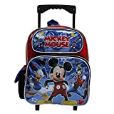 Disney Mickey Mouse'Roadster Racers' Shiny Blue & Black Smal Rolling School Backpack
