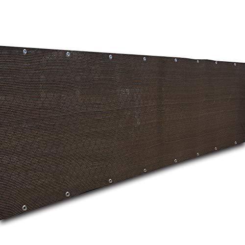 - Alion Home Privacy Screen Windscreen Mesh Shade Panel for Backyard Deck, Patio, Balcony, Fence, Porch, Pool -180 GSM - Custom (3' x 10', Dark Brown)