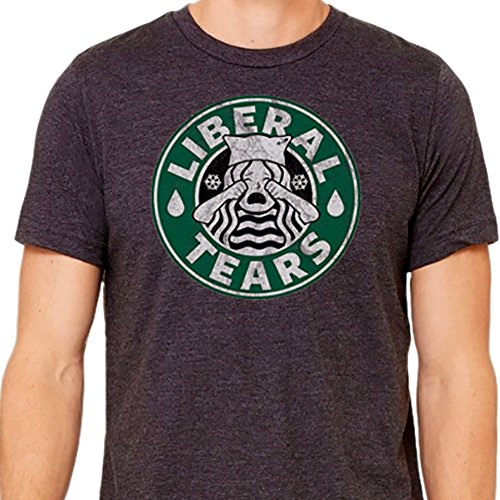 Supporter T-shirt - Liberal Tears MAGA T-Shirt for Donald Trump Fans (Small, Heather Grey)