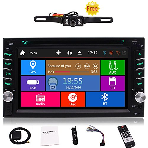 Free Car Rear View Camera + Double Din 6.2