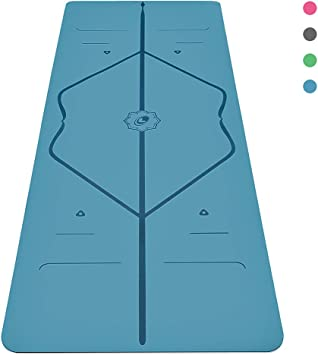 Liforme Original Yoga Mat - The Worlds Best Eco-Friendly, Non Slip Yoga Mat with The Original & Unique Alignment Marker System - Made with Natural ...