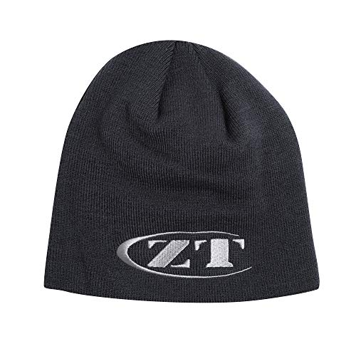 n-One Beanie (BEANIEZT18) Made of Comfortable Knitted Acrylic Material; Reversible Charcoal Exterior with Gray Knit-In ZT Logo and Solid Gray Interior; One-Size-Fits-Most; Washable ()