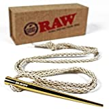 RAW Rolling Papers Gold Poker with Woven Natural Hemp Necklace