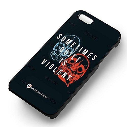 Sometimes Quiet is Violent 21 Pilots pour Coque Iphone 6 et Coque Iphone 6s Case (Noir Boîtier en plastique dur) P9O2QH