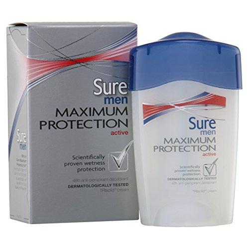 Sure Men Maximum Protection Anti-Perspirant Deodorant Cream Active (45ml)