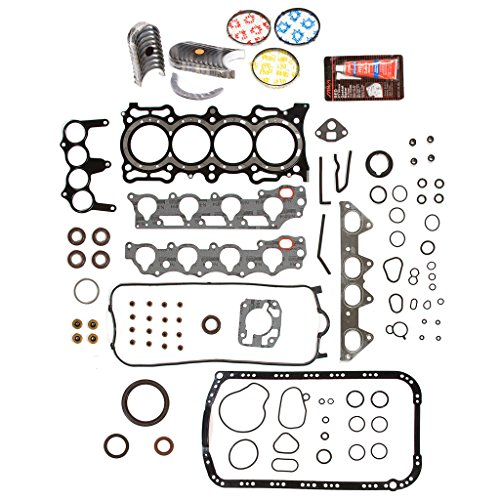 Rod Bearings Standard - Evergreen Engine Rering Kit FSBRR4010EVE\0\0\0 Fits Acura Honda 2.3 SOHC F23A1 F23A4 F23A5 F23A7 Full Gasket Set, Standard Size Main Rod Bearings, Standard Size Piston Rings