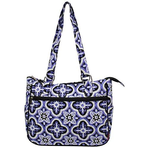 Ngil Quilted Cotton Shoulder Bag (Quatrefoil Paradise (Turtle Purse)
