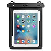 Universal Waterproof Case, MoKo Dry Bag Pouch for New iPad 9.7 2017, iPad Pro 9.7, iPad Air/Air 2, iPad 2/3/4, Tab S3 9.7, Tab S2 9.7, Tab A 9.7, Tab E 9.6 and Other Tablets up to 10 Inch, BLACK