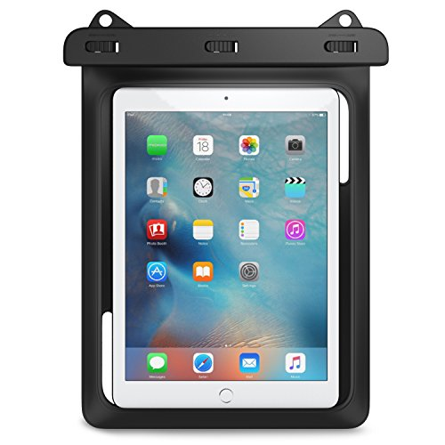 Universal Waterproof Case, MoKo Dry Bag Pouch for New iPad 9.7 2017, iPad Pro 9.7, iPad Air 2, iPad 4/3/2, Samasung Tab S3/Tab S2/Tab A 9.7, Galaxy Note 8, Tab E 9.6 and More Up to 10 Inch, BLACK