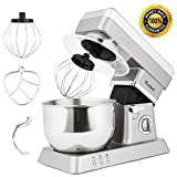 kitchen add stand mixer - MeyKey Stand Mixer, 600W Tilt-Head Kitchen Electric Food Mixer with 6-Speed Control, 5-Quart Stainless Steel Bowl, Dough Hook, Whisk, Beater, Splash Guard