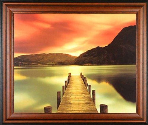 Ullswater Mel Allen Dock Sunset lake Gallery Quality Framed Print ...