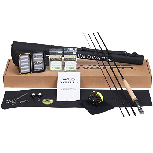 Wild Water Fly Fishing Rod and Reel Combo CNC Machined Reel 4 Piece Fly Rod 5/6 9' Complete Starter Package