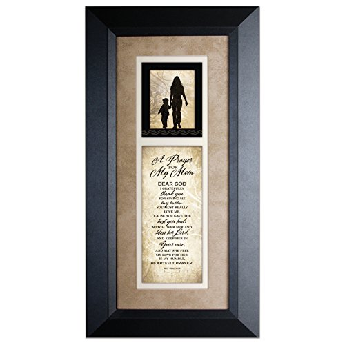 A Prayer for My Mom 8 x 16 Wood Wall Art Frame Plaque by James - For Gifts Mom