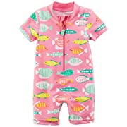 Carter's Baby Girls' Rashguard, Pink Fish, 6M