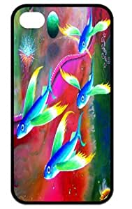 Durable Hard Case iPhone 4,4s Colorful Fishes Back Cases