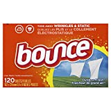 Bounce Fabric Softener Dryer Sheets, Outdoor Fresh Scent, 120 Count (Pack of 2)