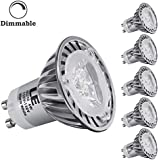 LE® 4W Dimmable MR16 GU10 LED Bulbs, 35W Halogen Bulbs Equivalent, 210lm, 45° Beam Angle, Warm White, 3000K, Recessed Lighting, Track Lighting, Spotlight, LED Light Bulbs, Pack of 5 Units