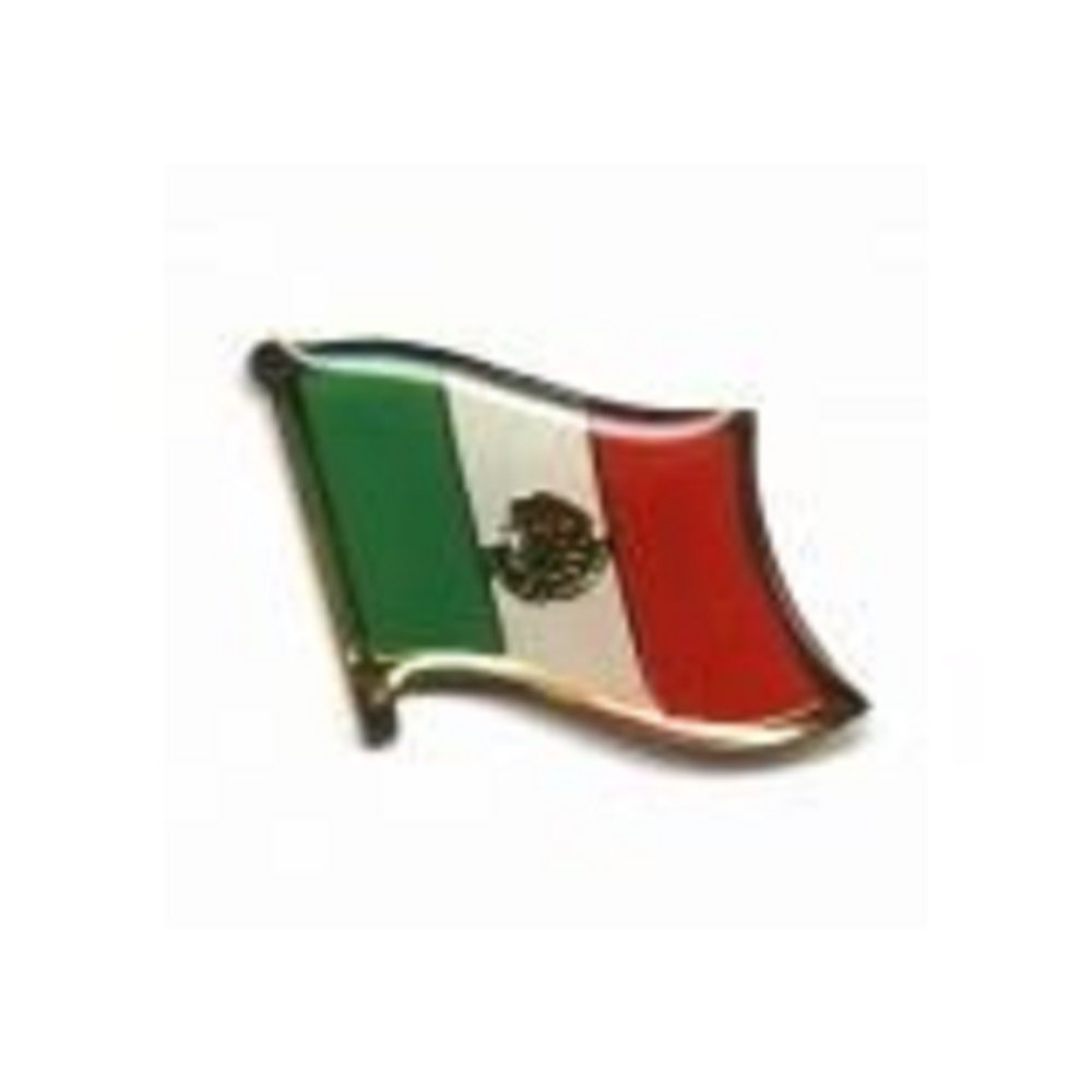 SUPERDAVES SUPERSTORE Mexico Country Flag Small Metal Lapel Pin Badge ... 3/4 X 3/4 Inches ... New