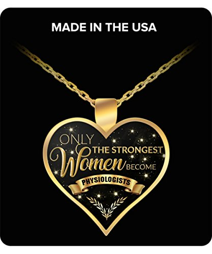 HollyWood & Twine Exercise Physiologist Gifts Only the Strongest Women Become Physiologists Necklace by HollyWood & Twine