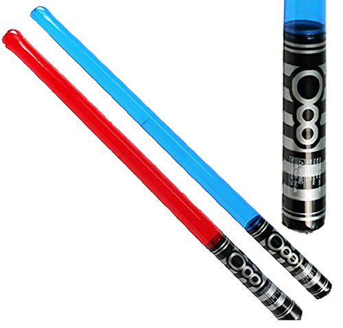 Novelty Treasures Two Inflatable Light Saber Space Swords (Red and (Novelty 2 Light Stars)
