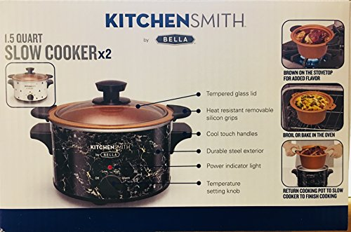 KitchenSmith 1.5 slow cooker x2