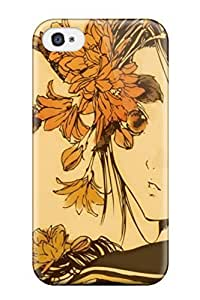 Unique Design Iphone 4/4s Durable Hard Case Cover Anime Autumn Melancholy