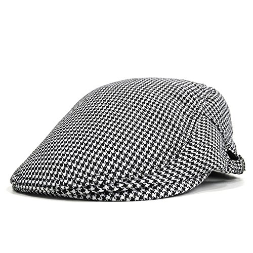 Men's Summer Flat Snap Hat Ivy Gatsby Newsboy Hunting Cabbie Driving Cap (Color 5) (Newsboy Wear Cap)