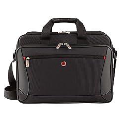 "Wenger Luggage Mainframe 15.6"" Brief Laptop Bag, Black, One Size"