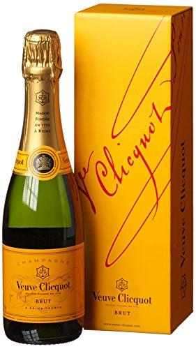 Veuve Clicquot Champagner Brut mit Geschenkverpackung (1 x 0.375 l)