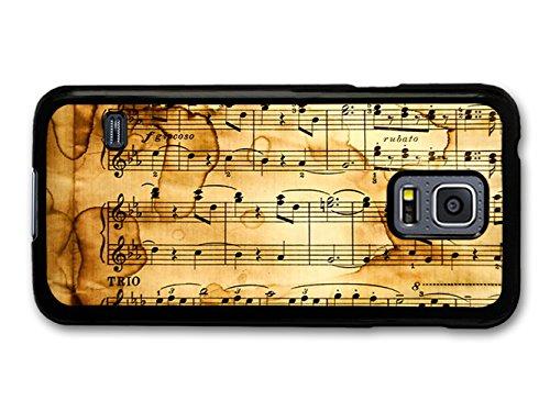 Sheet Music Treble Clefs Vintage Cute Design coque pour Samsung Galaxy S5 mini