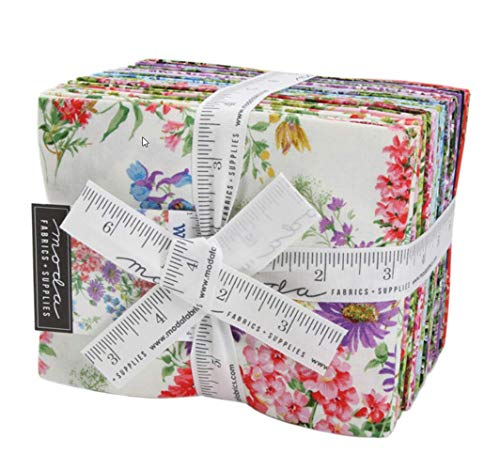 Moda Wildflowers IX Fat Quarter Bundle 23pc Precut Cotton Fabric Quilting Assortment ()