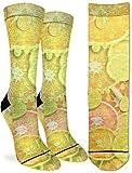 Good Luck Sock Women's Lemon & Oranges Crew Socks - Yellow, Adult Shoe Size 5-9