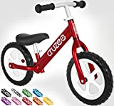 Cruzee UltraLite Balance Bike (4.4 lbs) for Ages 1.5 to 5 Years | Best Sport Push Bicycle for 2, 3 & 4 Year Old Boys & Girls – Toddlers & Kids Skip Tricycles on the Lightest First Bike 1 – Red