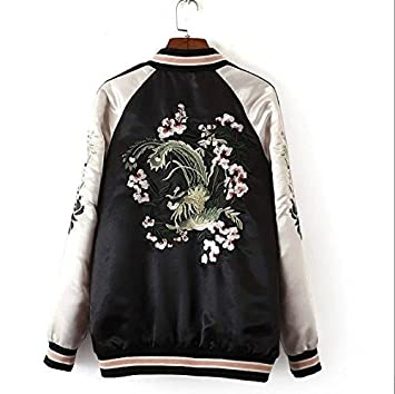 Amazon.com : 2016 Sale Abrigos Mujer Xn8107-100 Europe Station In The Spring Of New Womens Wear Embroidered Jacket On Both Sides 0313 Size:M : Everything ...